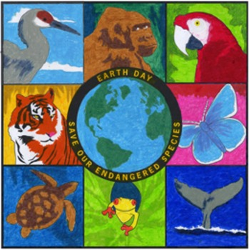 Earth Day Endangered Mural Template