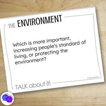 Environment:  Discussion Topics