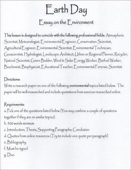 Earth Day Environmental Essay