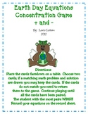 Earth Day Equations Concentration Game + and -