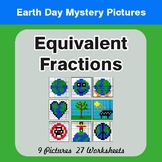Earth Day: Equivalent Fractions - Color-By-Number Mystery
