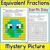 Earth Day Activities - Equivalent Fractions Mystery Pictur