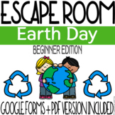 Earth Day Escape Room Activity - Beginner Edition