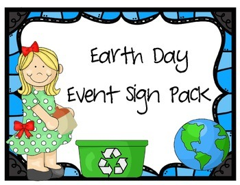 Earth Day Event Sign Pack