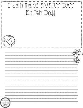 Earth Day Every Day Writing FREEBIE!