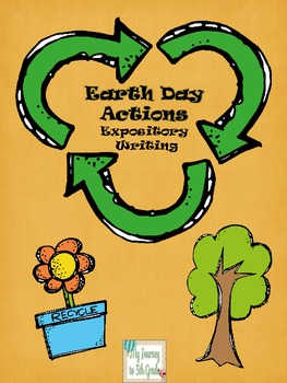 Earth Day Expository Writing with Templates