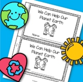 Earth Day Emergent Reader for Preschool, Pre-K and Kindergarten FREE