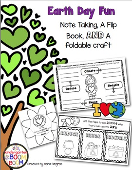 Earth Day Flipbook and Activities #kinderfriends