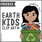 Earth Kids Clip Art Set [FREEBIE]