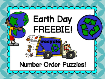 Earth Day FREEBIE!  Number order puzzles