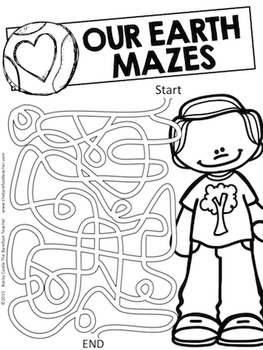Earth Day - FREE Pathway Mazes
