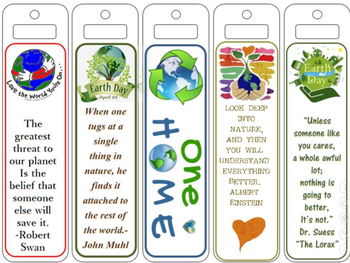 Earth Day Book Marks