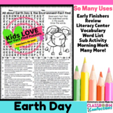 Earth Day Activity: Earth Day Word Search (nonfiction text, reading facts)