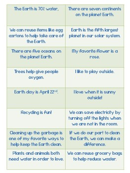 Earth Day: Fact VS. Opinion