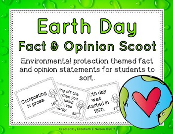 Earth Day Fact and Opinion Scoot