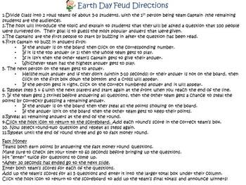 Earth Day Feud Powerpoint Game