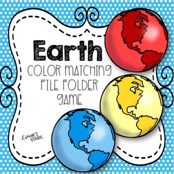 Earth Day File Folder Game: Earth Color Matching