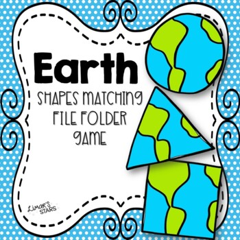 Earth Day File Folder Game: Earth Shape Matching