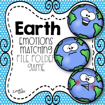 Earth Day File Folder Game: Emotions Matching