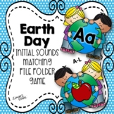 Earth Day File Folder Game: Letter to Initial Sound Matching A-L
