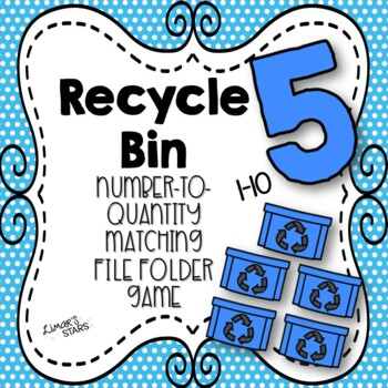 Earth Day File Folder Game: Number to Quantity Matching 1-10