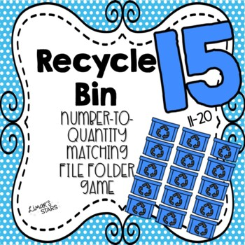 Earth Day File Folder Game: Number to Quantity Matching 11-20