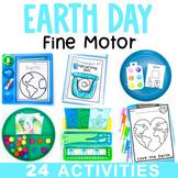 Earth Day Fine Motor Activities Bundle   Preschool Work Tubs & Worksheets