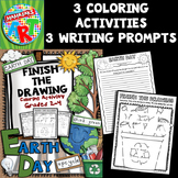 Earth Day Finish The Drawing Coloring Activity