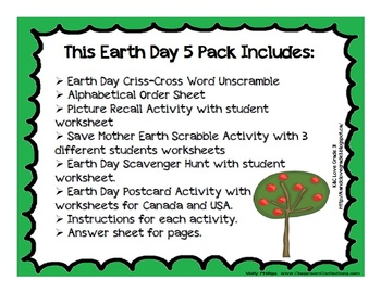 Earth Day Five Pack