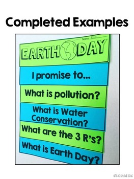 Earth Day Flap Book & Non-Fiction Reading Passage