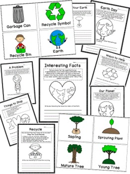 Earth Day Foldable and Unit for Literacy Center