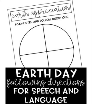 Earth Day Following Directions Activity (NO PREP)