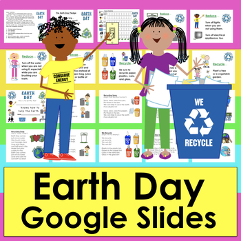 Earth Day Distance Learning for Google Slides Things To Help Earth PDF w/LINK