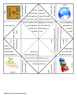 Earth Day Fortune Teller Patterns