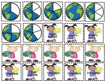 Earth Day Fraction Match Up