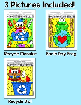 Earth Day Math: Color by Fractions Earth Day Activities