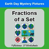 Earth Day: Fractions of a Set - Color-By-Number Mystery Pictures