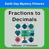 Earth Day: Fractions to Decimals - Color-By-Number Mystery