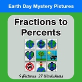 Earth Day: Fractions to Percents - Color-By-Number Mystery