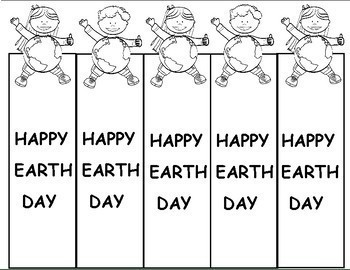 Earth Day Activities Bookmarks (Free)