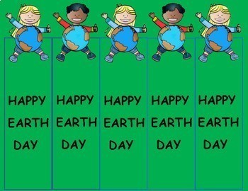 Earth Day Free Bookmarks