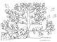 Earth Day Free Coloring Page - Tree in the Spring