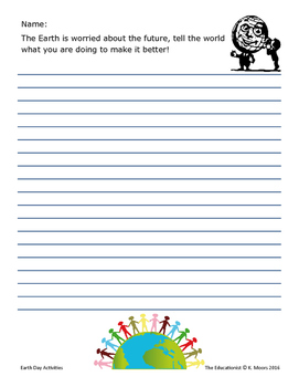 Earth Day Free Writing Activities and Word Search