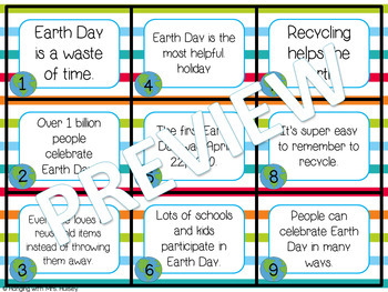 Earth Day: Fact and Opinion Sort & Writing Paper