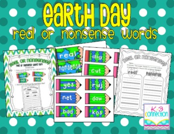 Earth Day Freebie (Real or Nonsense Word Sort)