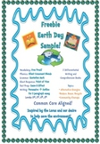 Earth Day Freebie - Writing and Comprehension Book Preview Pages