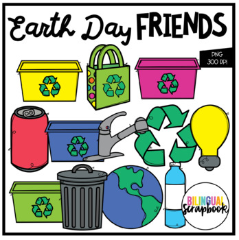 Earth Day Friends (Clip Art for Personal & Commercial Use)