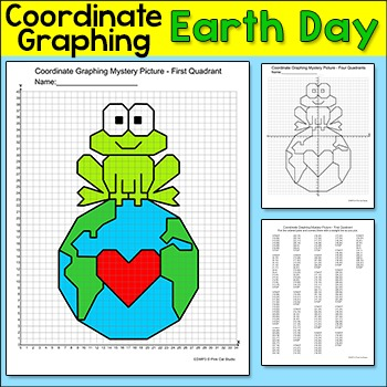 Earth Day Math Coordinate Graphing Ordered Pairs Mystery Picture