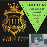 Earth Day Full Week of Journal and Discussion Prompts Writing