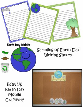 Earth Day - Spring - Writing  - Craftivity